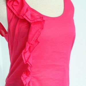 Anthropologie Tops - Anthropologie Ruffled Raspberry Tank Top 🍓 4